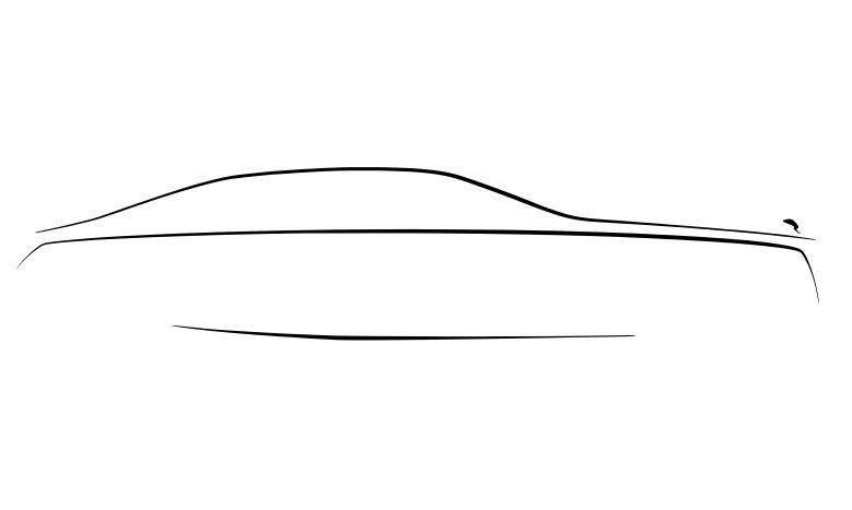 primul desen Rolls-Royce Ghost