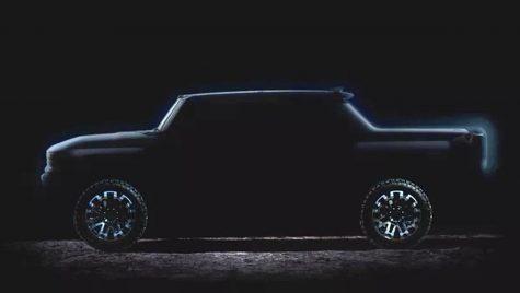 Teaser pentru GMC Hummer EV, pick-up-ul electric de 1.000 CP