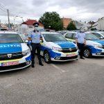 Primele mașini de Poliție cu noua schemă de culori verde-albastru au intrat în utilizare