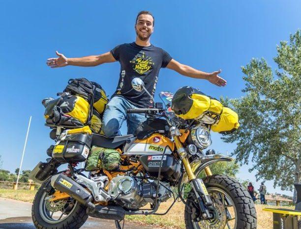 turul lumii Honda Monkey 2020 Andre Sousa