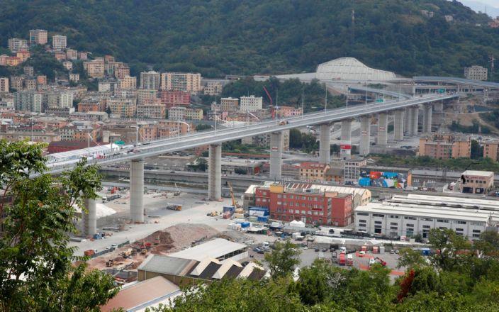 Podul san Giorgio in locul podului Morandi Genova