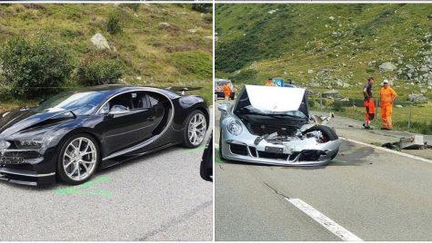 Coliziune între Bugatti Chiron și Porsche 911 Cabrio în Pasul Gotthard din Elveția