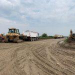 Primele imagini de pe șantierul drumului expres DX12 Craiova-Pitești