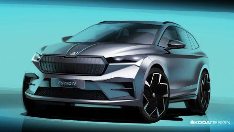 Skoda Enyaq iV: exteriorul este dezvăluit în schițe oficiale de design