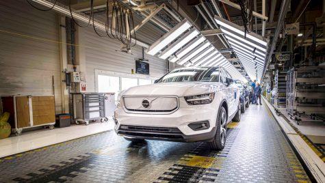Volvo a început producția pentru modelul electric XC40 Recharge