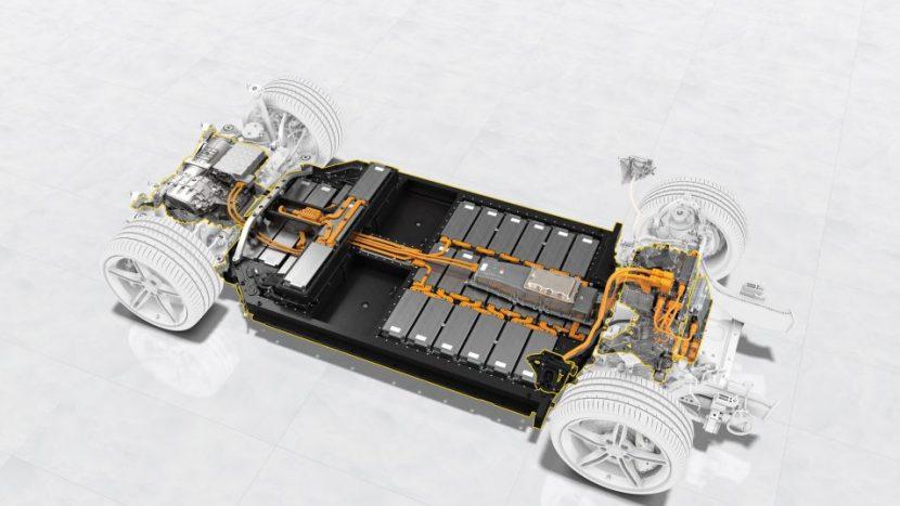 Porsche Engineering baterie Porsche Taycan 4S