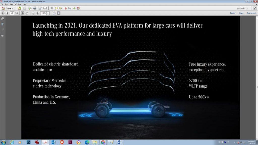 platforma electrica Mercedes EVA