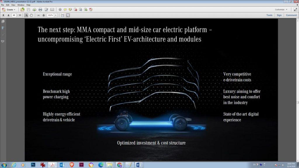 platforma electrica Mercedes MMA