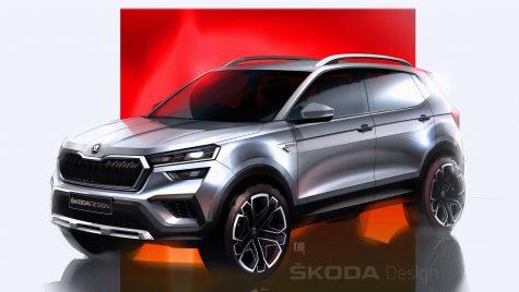 Skoda Kushaq: primele schițe de design cu SUV-ul dedicat pieței din India
