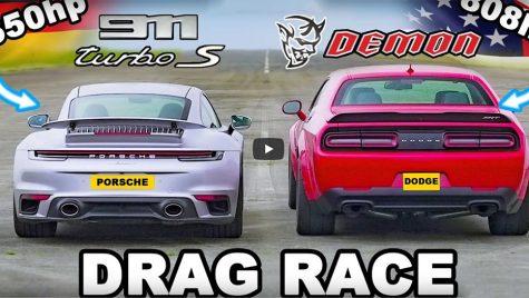 Muscle car vs supercar: drag race