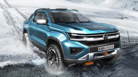 Viitorul Volkswagen Amarok apare într-o imagine nouă