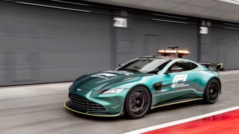 Aston Martin Vantage devine safety-car în Formula 1