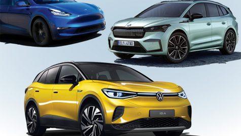 Cel mai bun SUV electric? Volkswagen ID.4 vs Škoda Enyaq iV, Tesla Model Y