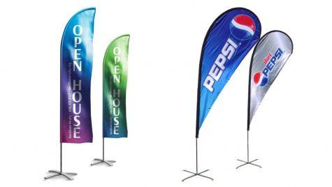 Cum sa iti maresti vizibilitatea companiei folosind steaguri vela?