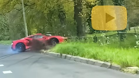 Accident cu Ferrari 488 Pista: video cu momentul impactului
