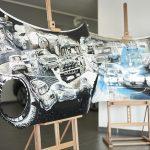 Operă de artă Mini – picturi unice pe două capote