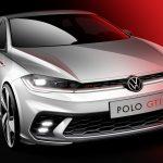 Volkswagen Polo GTI facelift: prima schiță de design