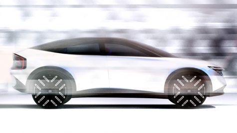 Adio, Nissan Leaf! Hatch-ul se transformă în crossover-coupe.