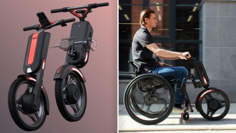 Iată monociclul care transformă orice scaun cu rotile într-un scuter!