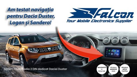 Test video cu sistemul de navigație Duster, Sandero și Logan oferit de Falcon Electronics