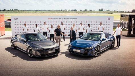 Modele Audi e-tron GT pentru jucătorii de la FC Bayern Munchen