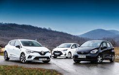 Test comparativ Honda Jazz e:Hev vs Renault Clio E-TECH, Toyota Yaris HYB