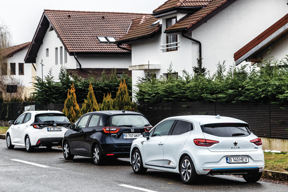 Honda Jazz eHEV vs Renault Clio E-Tech vs Toyota Yaris HYB autoexpert.ro
