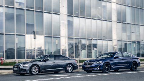 Test comparativ Audi A6 55 TFSI e quattro vs BMW 530e xDrive