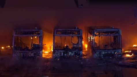 Un muzeu din Germania cu autobuze rare a ars din temelii