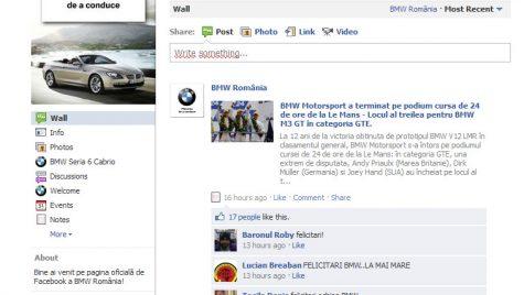 BMW – cel mai bun brand în comunicarea pe Facebook