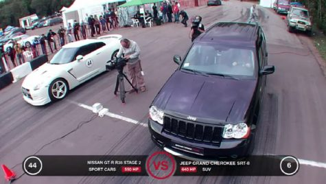 VIDEO: Nissan GT-R vs Jeep Grand Cherokee, cursă cu final așteptat?