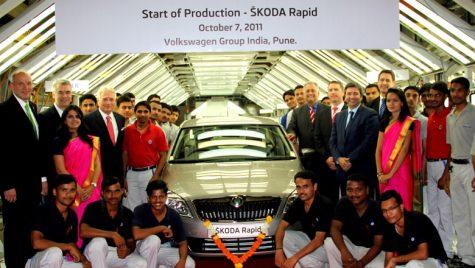 Skoda Rapid se vrea un concurent pentru Dacia Logan, momentan doar în India