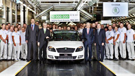 Sărbătoare la Mlada Boleslav: automobilul Skoda cu numărul zece milioane