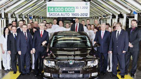 ŠKODA celebrează: 14 milioane de autovehicule produse