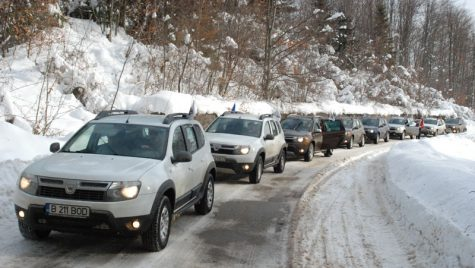 Reuniunea de iarnă a Asociației Club Duster a avut loc, în premieră, în Bucegi