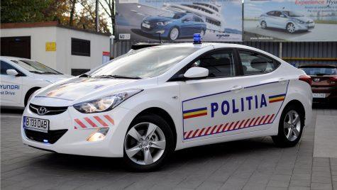 Hyundai Elantra face echipă cu Poliţia Ilfov