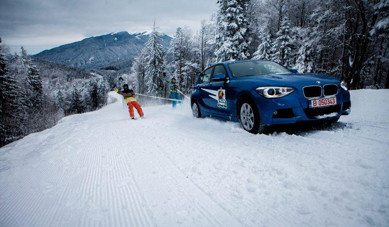 Un BMW în loc de schiuri