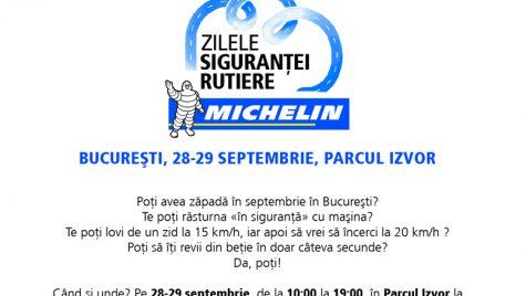 Zilele Siguranței Rutiere Michelin, în acest weekend în Parcul Izvor